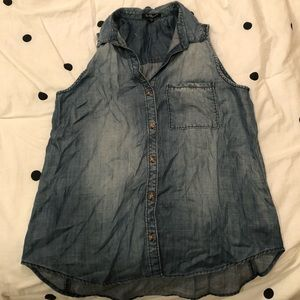 NWOT Chambray Button Front Tank